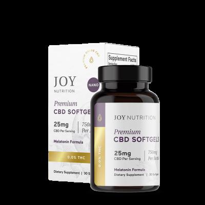 JOY ORGANICS   Softgels 25mg - Melatonin Formula