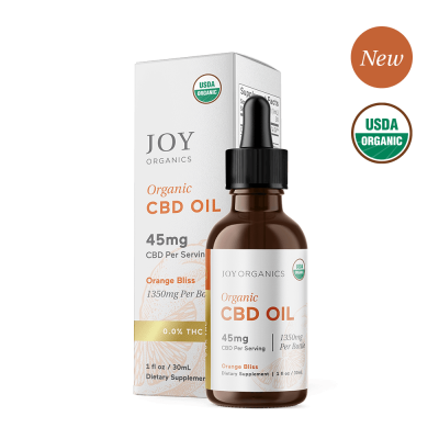 JOY ORGANICS | CBD Oil 1350mg Orange Flavored - USDA Approved