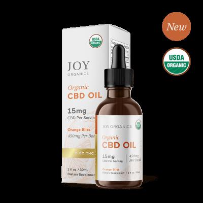 JOY ORGANICS | CBD Oil 450mg Orange Flavored - USDA Approved