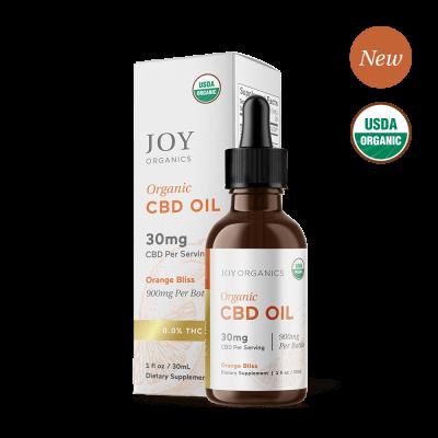 JOY ORGANICS | CBD Oil 900mg Orange Flavored - USDA Approved