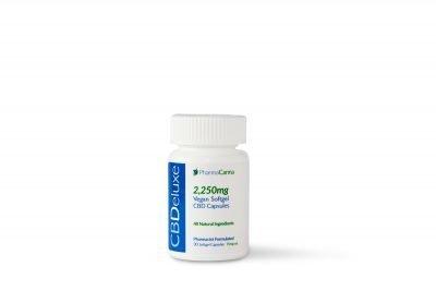 PHARMACANNA   THC Free CBDeluxe Vegan Soft Gel Caps - 2250mg