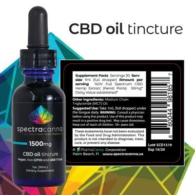 SpectraCanna Full Spectrum CBD Oil 1500mg