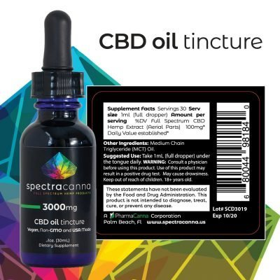 SpectraCanna Full Spectrum CBD Oil 3000mg