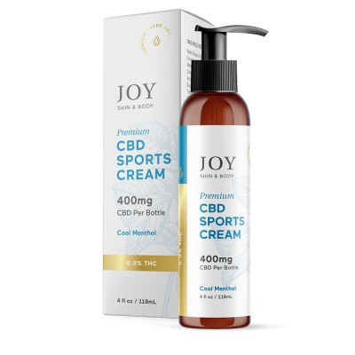 JOY ORGANICS | CBD Sports Cream 400mg Pump
