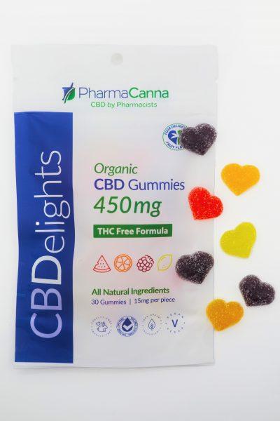 PHARMACANNA | THC Free CBDelights 450mg Organic Gummies