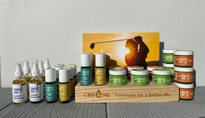 CBD & ME | Starters Topical Kit - Display with Golfer