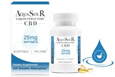 AQUASOL RX | Liquid Structure™ CBD 25mg Softgels